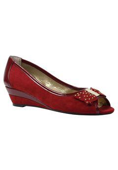 Azahar Dress Shoes by J.Renee®, DEEP RED, hi-res