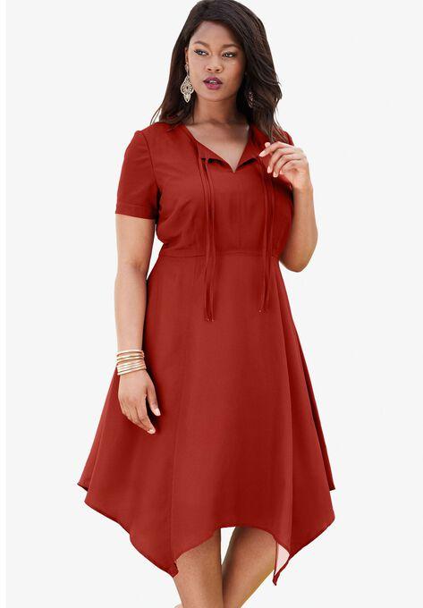 High-Low Tie-Front Dress