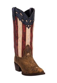 Keyes Cowboy Boots by Laredo, TAN, hi-res