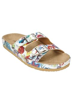 Maxi Footbed Sandal by Comfortview®, GARDEN MULTI, hi-res