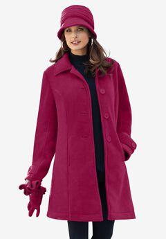 Plush Fleece Jacket, BERRY TWIST