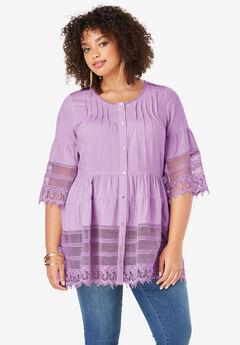 Illusion Lace Tunic,