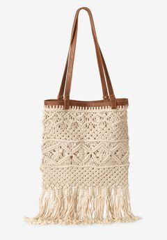 Crochet Overlay Tote,