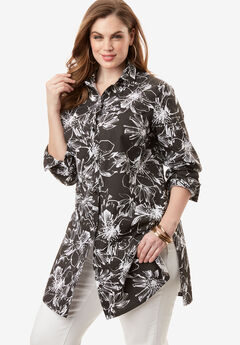 Kate Tunic, BLACK FLORAL, hi-res