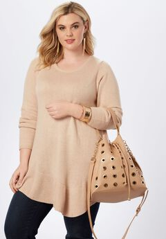 Goldtone Hardware Bucket Bag,