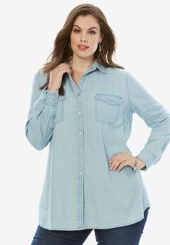 Olivia Denim Shirt by Denim 24/7®, LIGHT WASH