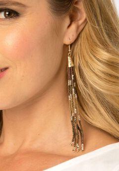 Beaded Tassel Earrings,