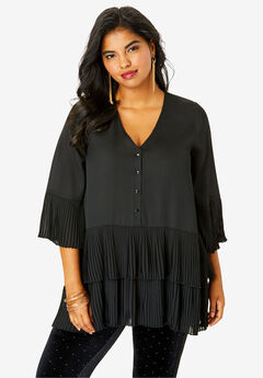 Tiered Tunic, BLACK