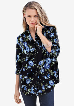 Three-Quarter Sleeve Kate Big Shirt,