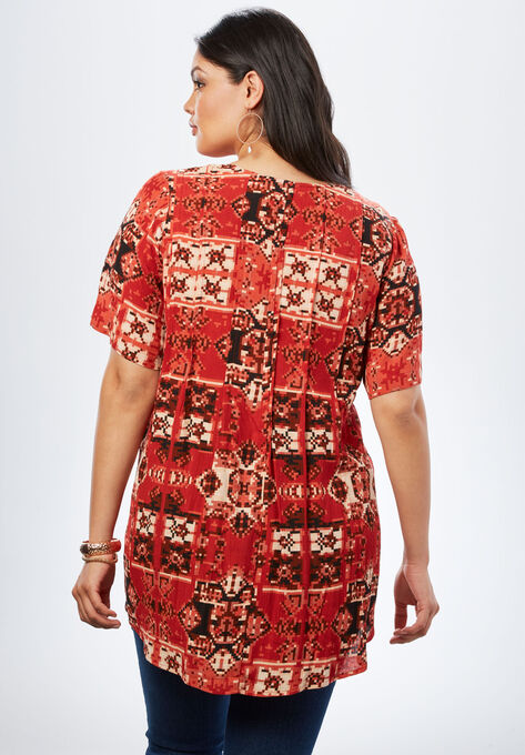 c3d94e2802fc6 Angelina Tunic in Crinkle Crepe