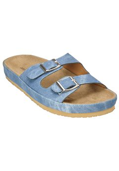 Maxi Footbed Sandal by Comfortview®, DENIM, hi-res