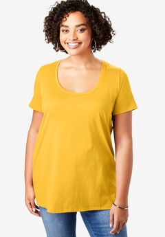 Scoopneck Ultimate Tee, SUNSHINE YELLOW