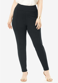 Ultimate Ponte Seamed Legging, BLACK