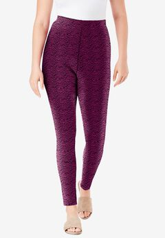 Ankle-Length Essential Stretch Legging, BERRY ANIMAL