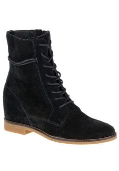 Bab Felise Wide Calf Boots by Hush Puppies®, BLACK SUEDE, hi-res