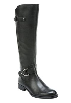 Jenelle Wide Calf Boots by Naturalizer®, BLACK, hi-res
