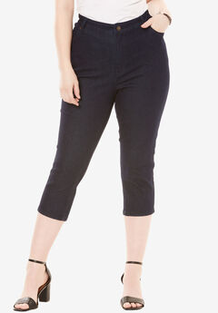 Denim Capri with Invisible Stretch®,