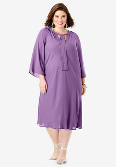 Bell-Sleeve Dress,