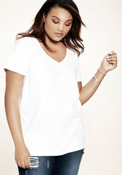 Ultimate Sweetheart Neck Tee, WHITE, hi-res