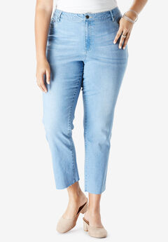 Crop Straight Jean by Denim 24/7®, LIGHT WASH