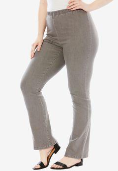 Stretch Bootcut Legging by Denim 24/7®, GREY DENIM, hi-res