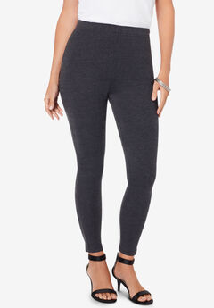 Ankle-Length Stretch Legging, HEATHER CHARCOAL, hi-res