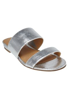 Shadi Sandals by Comfortview® , SILVER, hi-res