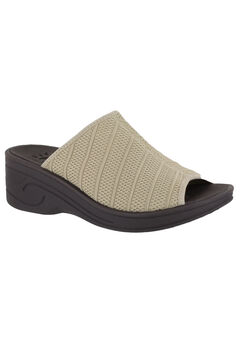 Airy Sandals by Easy Street®, NATURAL STRETCH, hi-res