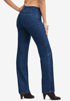 Straight-Leg Jean with Invisible Stretch® by Denim 24/7®,