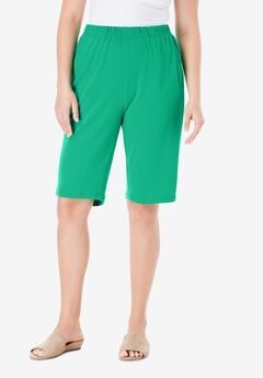 Soft Knit Bermuda Short, TROPICAL EMERALD