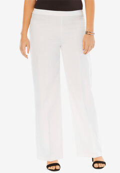 Bend Over Wide Leg Pants, WHITE, hi-res