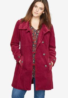 Corduroy Coat by Castaluna, RICH BURGUNDY, hi-res
