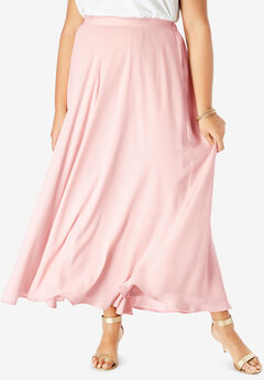 Georgette Maxi Skirt, PALE BLUSH