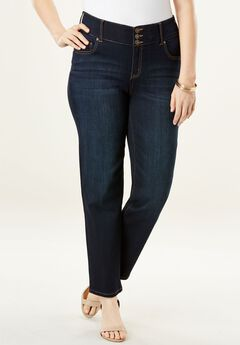 The Curvy Straight-Leg Jean by Denim 24/7®,