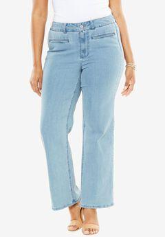 Wide Leg Jeans by Denim 24/7, LIGHT WASH, hi-res
