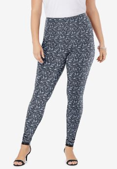 Ankle-Length Essential Stretch Legging, HEATHER FANCY PAISLEY