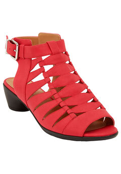 Kadie Sandals by Comfortview®, HOT RED, hi-res