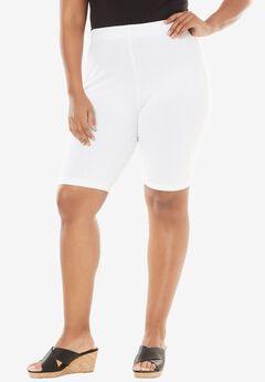 Essential Stretch Bike Short, WHITE