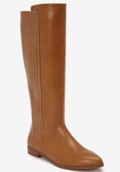 The Alecca Wide Calf Boot by Comfortview®, TAN