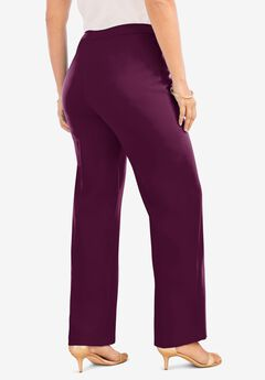 Wide-Leg Bend Over® Pant, DARK BERRY