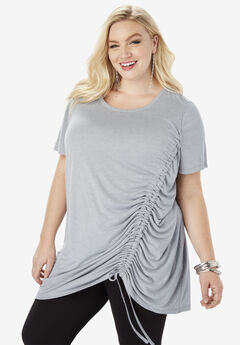 Ruched Drawstring Tunic,