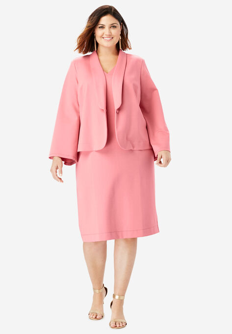 07d5c8e8da8d Ultimate Ponte Jacket Dress with Bell Sleeves| Plus Size Work ...