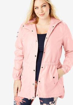 98b2654e874 Essential Rain Jacket with High-Low Hem