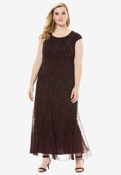 A-Line Beaded Dress by Pisarro Nights,