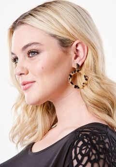 Faux Tortoise Shell Earrings,