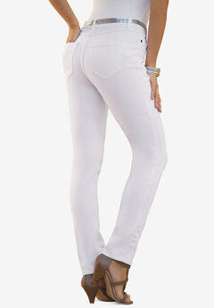 Skinny Jean with Invisible Stretch® by Denim 24/7®, WHITE DENIM