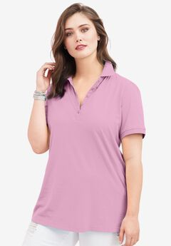 Ultimate Polo Tee, ORCHID PINK, hi-res
