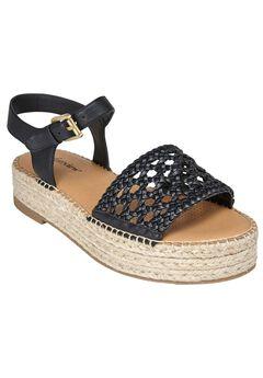Rowan Sandals by Comfortview®, BLACK, hi-res