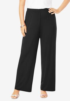 Ultra Smooth Wide-Leg Pant, BLACK