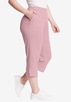 Soft Knit Capri, ROSE MIST